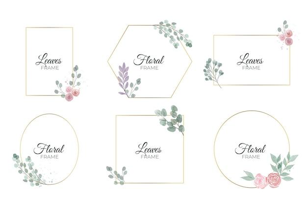 水彩花フレームコレクション