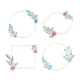 수채화 꽃 프레임 컬렉션