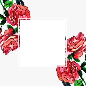 Акварельная цветочная рамка многоцелевой фон для торжеств