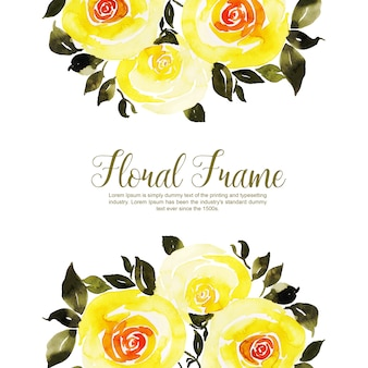 水彩花フレーム多目的背景