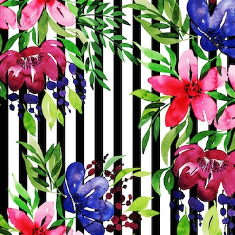 Watercolor Floral Frame Multi-Purpose Background