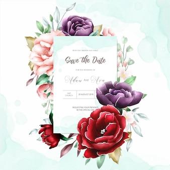Акварель цветочная рамка многоцелевой фон