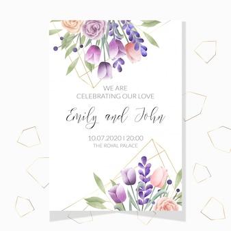Watercolor floral frame. multipurpose background.