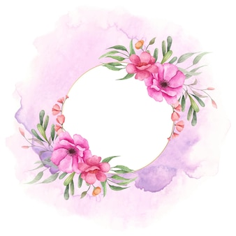 Watercolor floral frame for special occasion