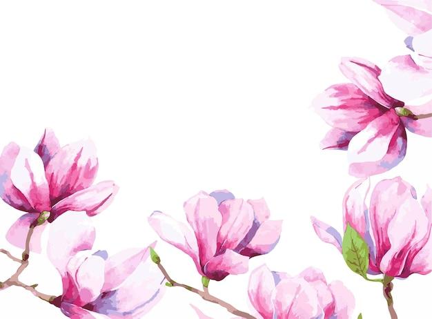 水彩花フレーム