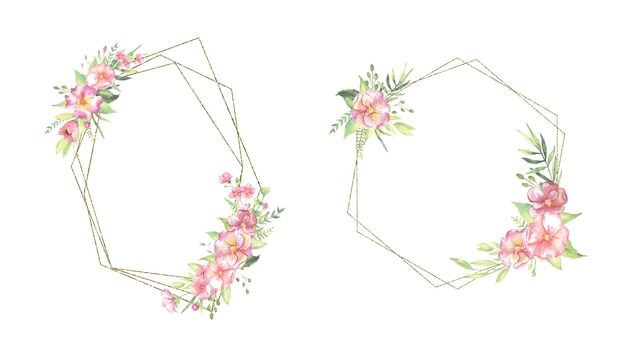 Акварельные цветочные рамки