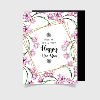 Watercolor floral greeting cards