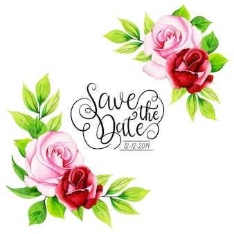 Watercolor floral invitation background