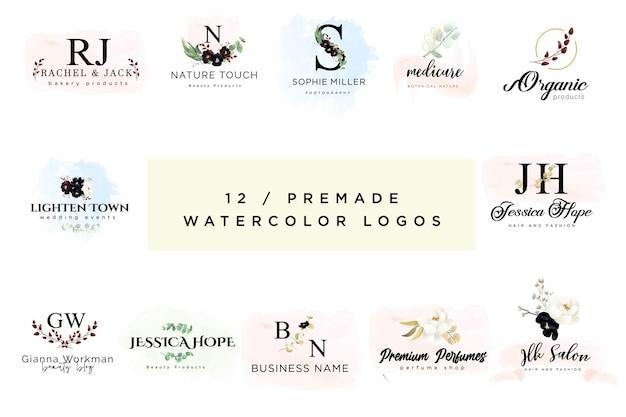 Watercolor floral  logos
