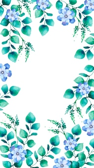 Watercolor floral mobile screen wallpaper