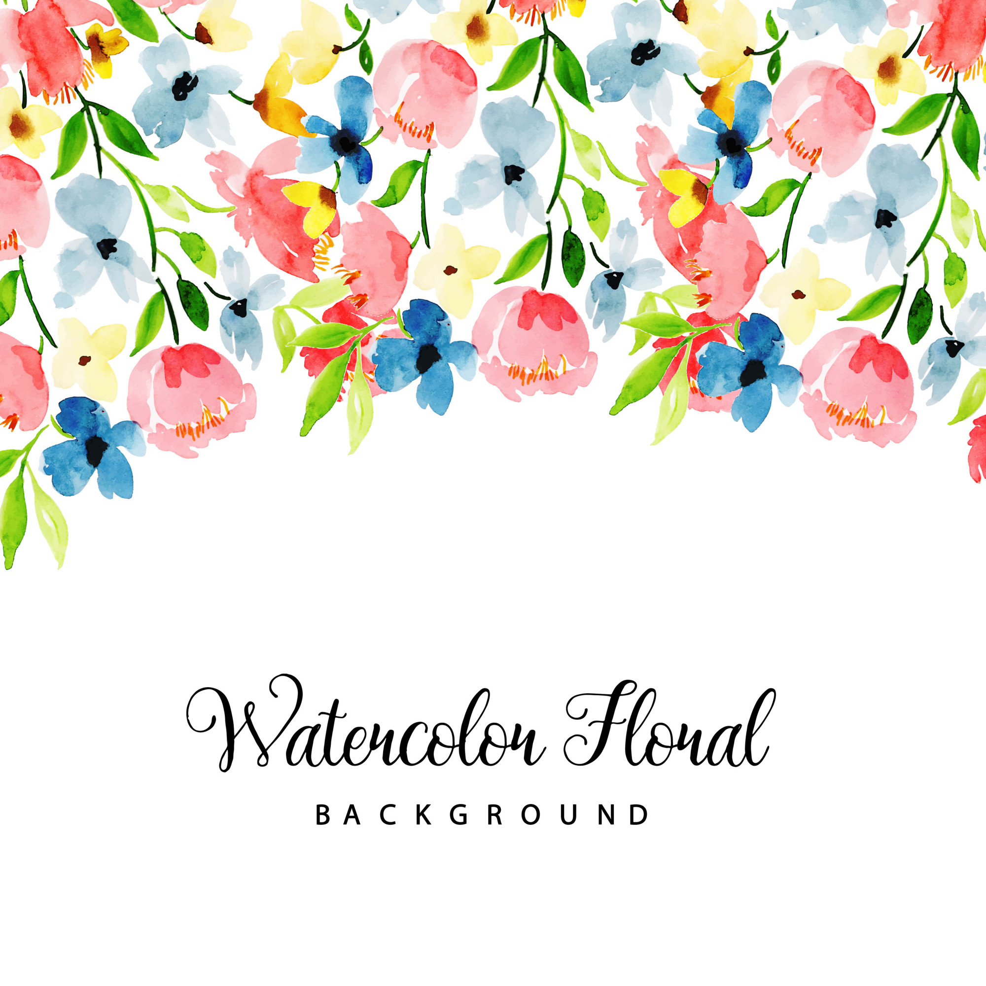 Watercolor Floral Multipurpose Background