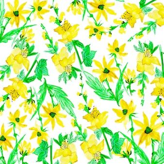 水彩画の花の多目的背景