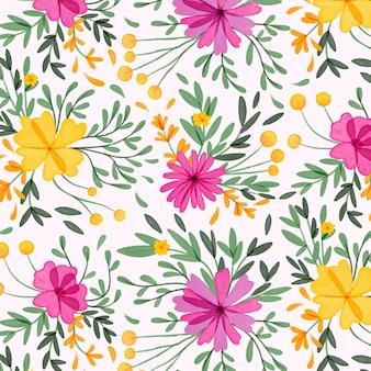 수채화 꽃 귀갑