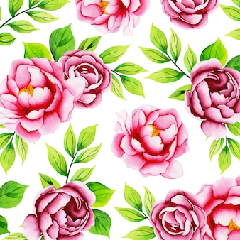 Watercolor floral pattern background