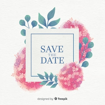 수채화 꽃 날짜를 저장