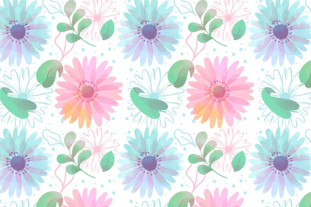 Watercolor floral screensaver with soft colors