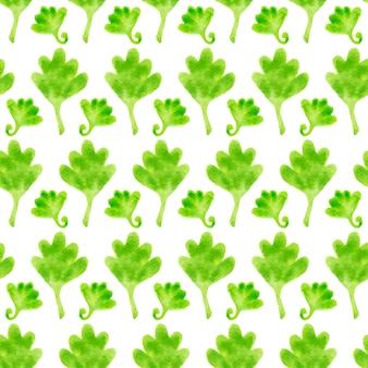수채화 꽃 원활한 패턴입니다. 잎 손으로 그린 텍스처