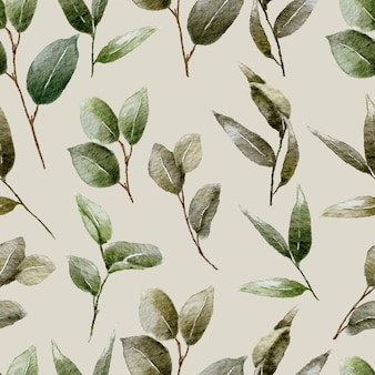 Watercolor floral seamless pattern template design