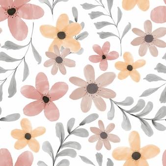 수채화 꽃 원활한 패턴