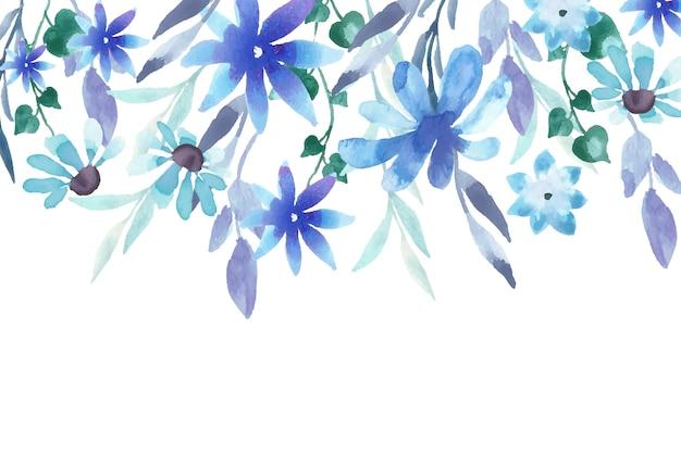 水彩花の壁紙デザイン