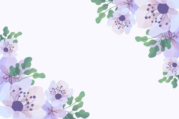 파스텔 색상의 수채화 꽃 벽지