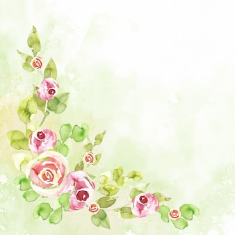 Watercolor floral wallpaper in pastel colors