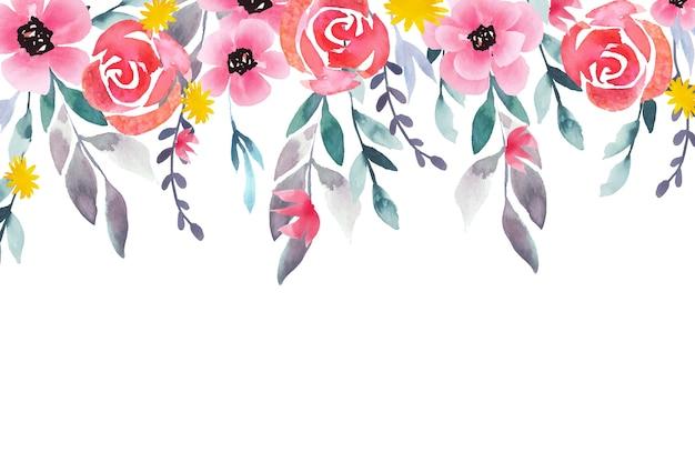 水彩花の壁紙スタイル
