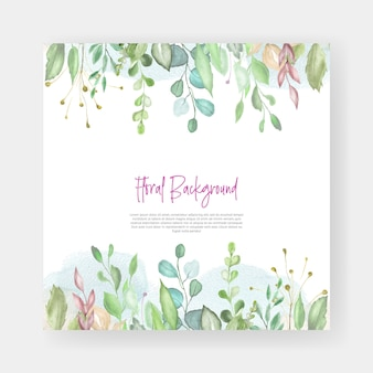 Watercolor floral wedding card design