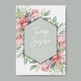Carta di nozze floreale dell'acquerello