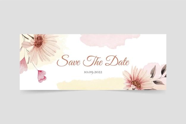水彩花の結婚式のfacebookのカバー