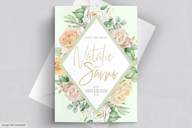 Акварель цветочные свадебные приглашения карты