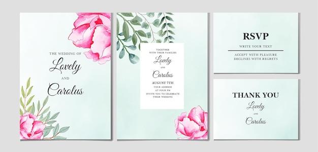 Акварель цветочные свадебные приглашения