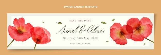 Акварель цветочные свадебные подергивания баннер