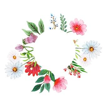 Акварельный цветочный венок