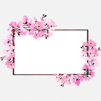 Watercolor florals decorated, beautiful frames with space for your text.