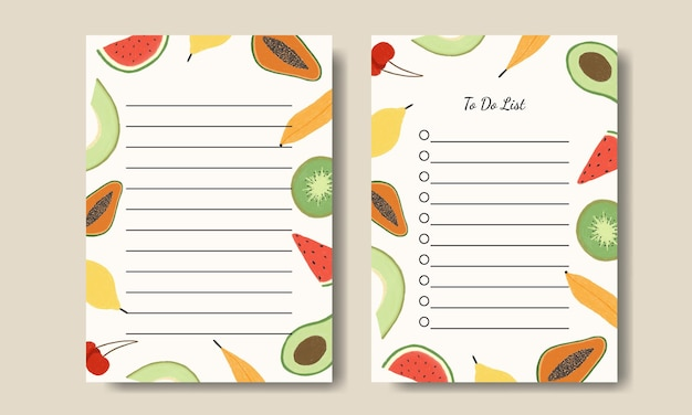 Watercolor florals notes and to do list printable