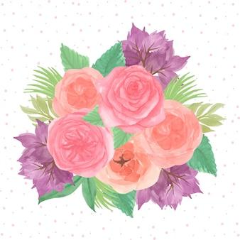 Watercolor flower arrangement background