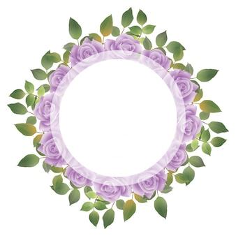 招待状の装飾のための水彩画の花の花束