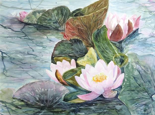 수채화 꽃 꽃다발 그림