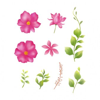 Watercolor flower element