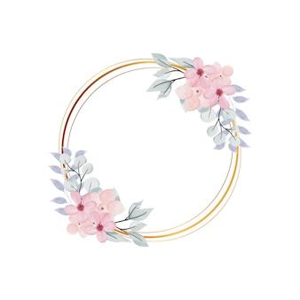 수채화 꽃 프레임 배경
