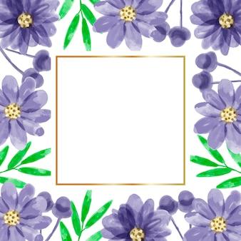 水彩花フレームの背景