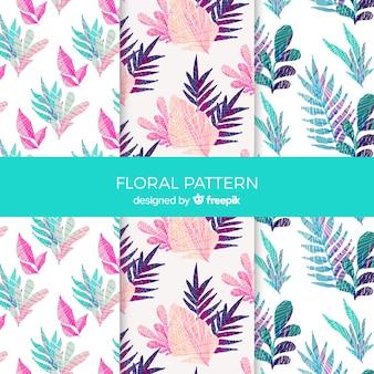 수채화 꽃 패턴 모음