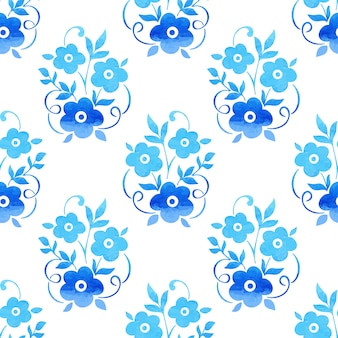 Watercolor flower seamless pattern background. elegant texture for backgrounds.