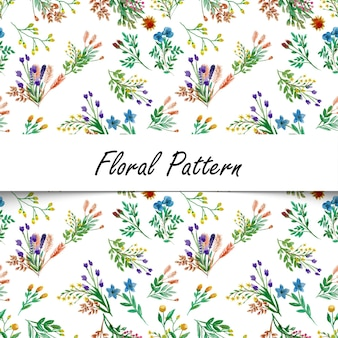 Watercolor flower seamless pattern background elegant texture white background