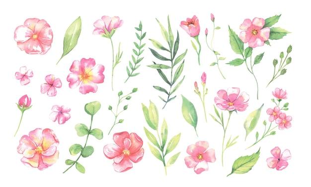 Акварельный цветок