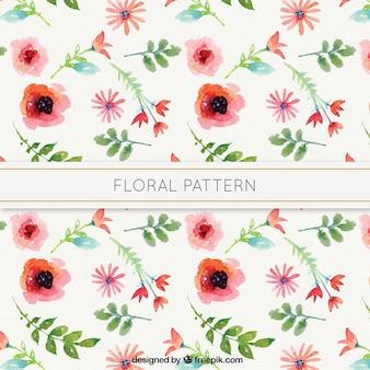 水彩画の花の芸術パターン
