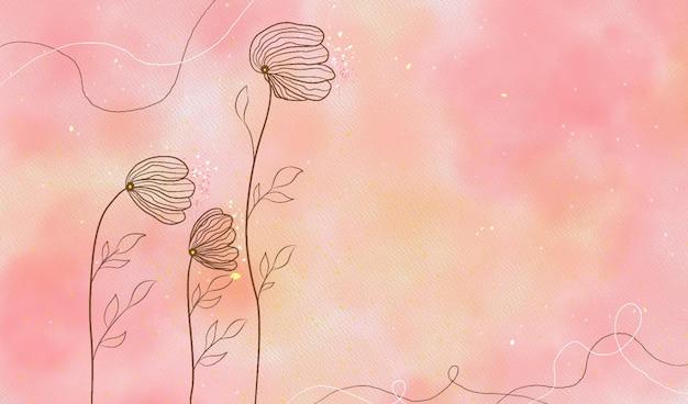 Акварельный цветочный фон в пастельных тонах