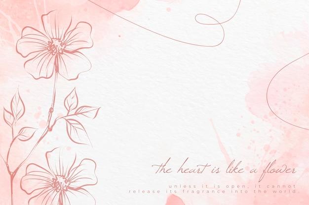 Акварельные цветы фон в пастельных тонах