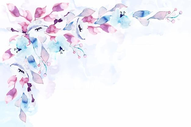 パステルカラーの水彩花のスクリーンセーバー